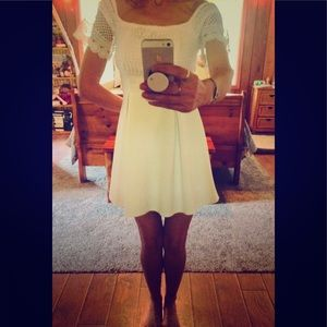 Francesca white flare dress